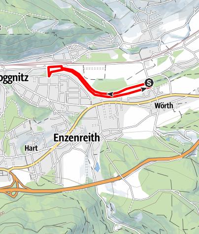 Mapa / Bewegungsarena Gloggnitz Reiter´s Resort Runde G1