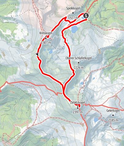 Map / Winterleiten-Kreiskogel-Zirbitzkogel-Winterleitenhütte