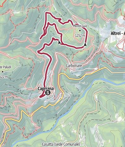Karte / Auf den Spuren alter Hütten in der nähe von Dorf Capriana