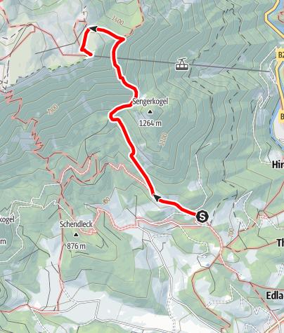 Térkép / Wanderung zum Raxalpen Berggasthof (vom Knappenhof)
