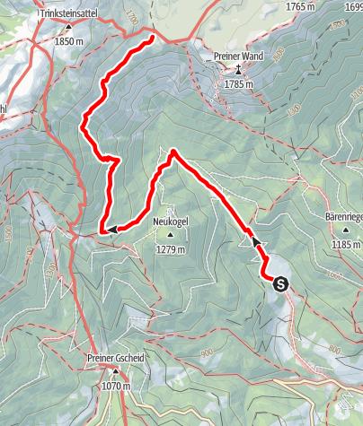 Map / Wanderung auf die Neue Seehütte (von Griesleiten)
