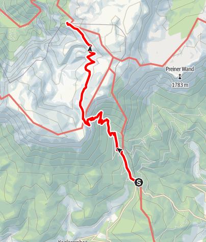 Karte / Wanderung zum Habsburghaus (vom Preiner Gscheid)