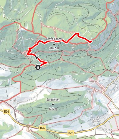 Térkép / Wanderung auf die Große Kanzel (von Pension Seiser)