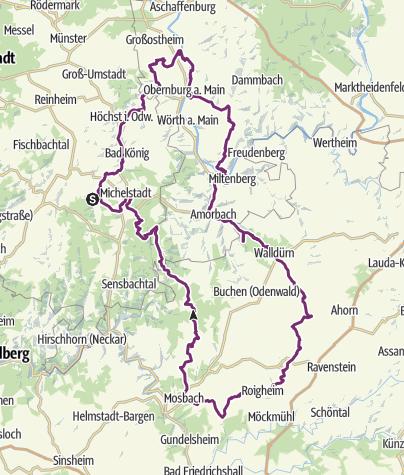 Karte /  3-Länder-Rad-Event 2015 - Auf den Spuren der Odenwälder Braukunst
