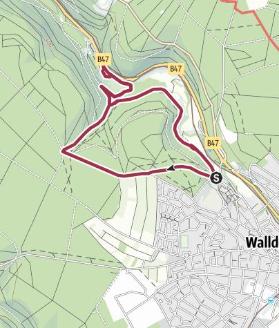 Karte / Märzenbrünnlein-Spaziergang