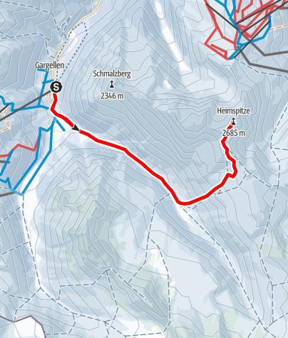 Map / Skitour auf die Heimspitze (2.685 m)