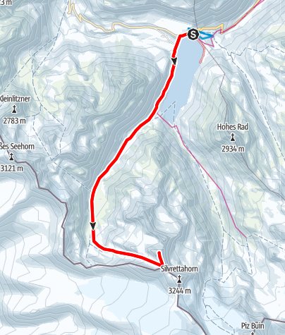 Map / Skitour Schneeglocke
