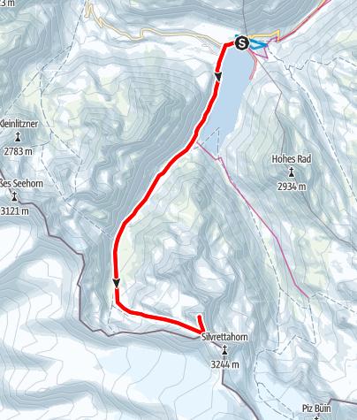 Karte / Skitour Schneeglocke