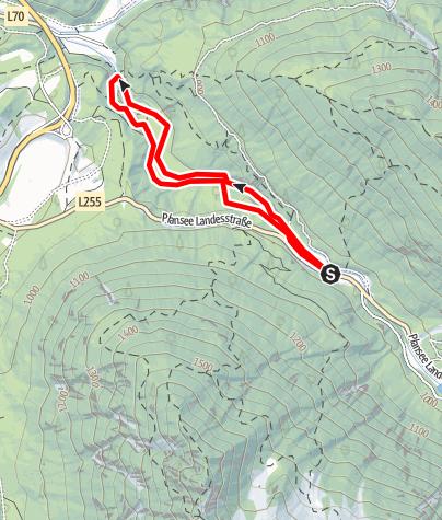 Karte / Canyoning - Stuibenfälle