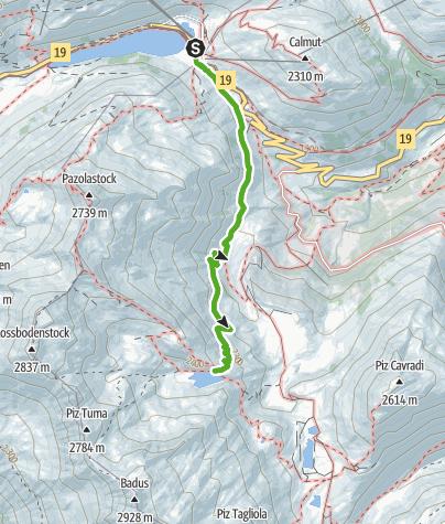 Karte / Zur Rheinquelle: Oberalppass -Tomasee