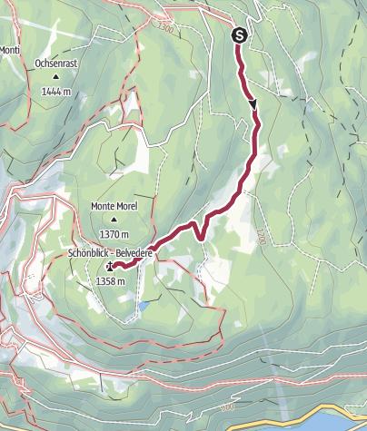Karte / Kurze Wanderung zur Malga Fraul