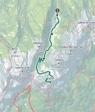 Karte / Cauriol Spitze Wanderung