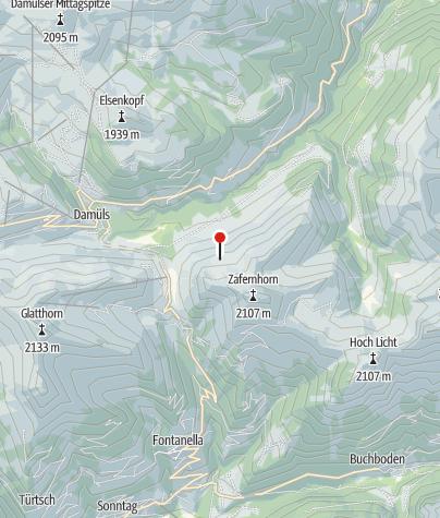 Karte / Bartholomäusalpe ( Gaishütte )