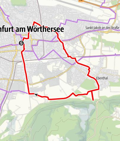 Karte / Zu den Quellen - der Süden von Klagenfurt