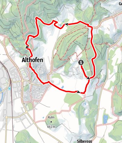 Karte / Althofen: Aussichtsreicher Kurzspaziergang