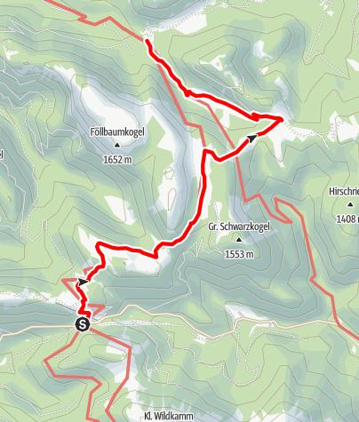 Karte / Niederalpl - Wetterin - Weißalm - Ochsenboden - Herrenboden - Dürriegel - Schöneben