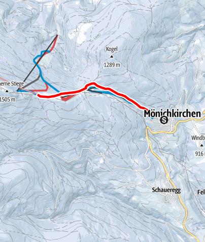 Mapa / Wanderung zum Hallerhaus (von Mönichkirchen)