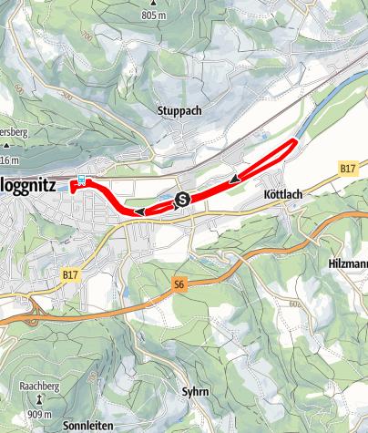 Mapa / Bewegungsarena Gloggnitz Nemec Runde G3