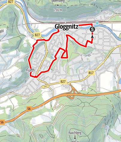 Mapa / Bewegungsarena Gloggnitz Fliesen Schuckert Runde G5