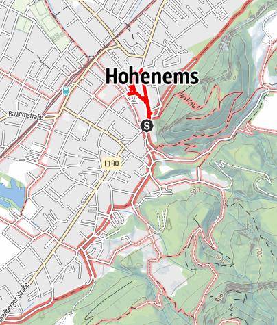 Karte / Kulturroute Hohenems - Zur Stadt