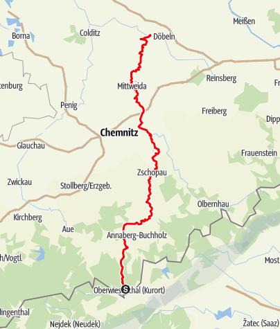 Karte / Zschopautalweg