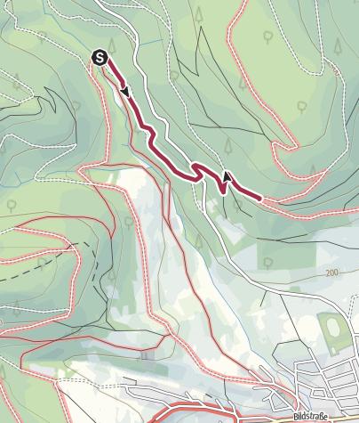Karte / Verbindungsweg V3 - zwischen den Wegen CR2 und CF1