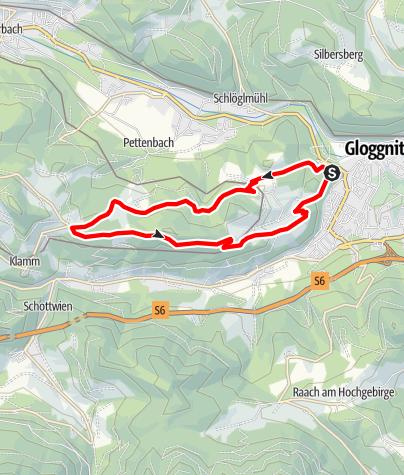 Mapa / Bewegungsarena Gloggnitz Intersport Eybl Runde G4