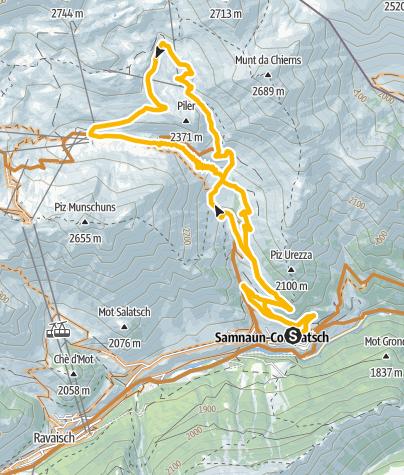 Map / Rundtour zur Alp Trida und Alp Bella