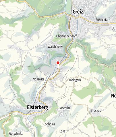 """Karte / Gaststätte """"Zur Eiche""""Greiz"""