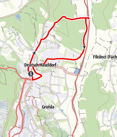 Karte / Rund um Deutsch-Haseldorf