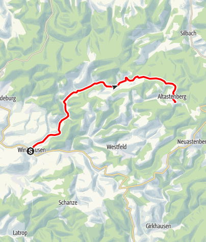 Karte / Die schönsten Rennrad-Pässe im Sauerland - Das Sorpetal