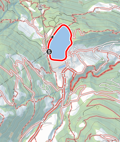 Map / Barrierefrei - um das Staubecken von Latschau