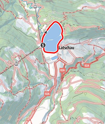Karte / Barrierefrei - um das Staubecken von Latschau