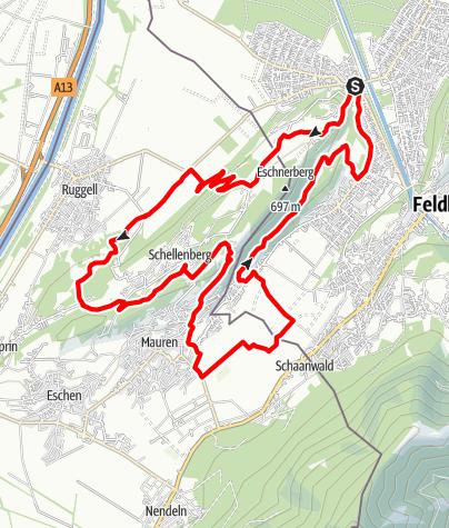 Karte / Über den Schellenberg