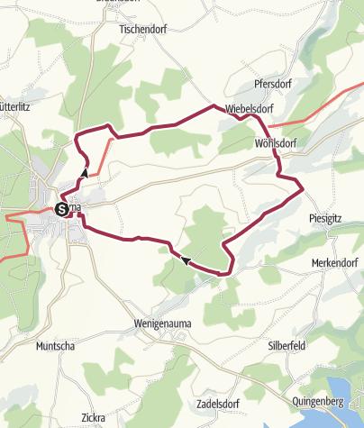 Mapa / Rund um Auma