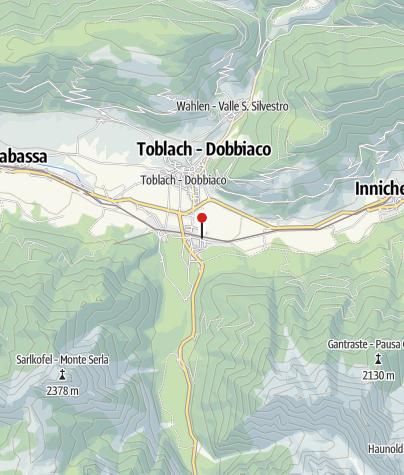 Mappa / Bahnhof Toblach