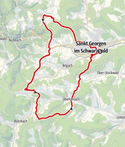 Karte / St. Georgen - Tour über den Hirzwald