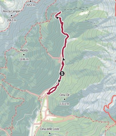 Mappa / Chalet Faggio/Malga Gui - Ledro 28 dic 2019