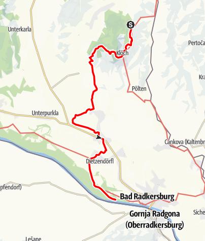 Karte / Linke Fußspur (Auf den Spuren der Vulkane)