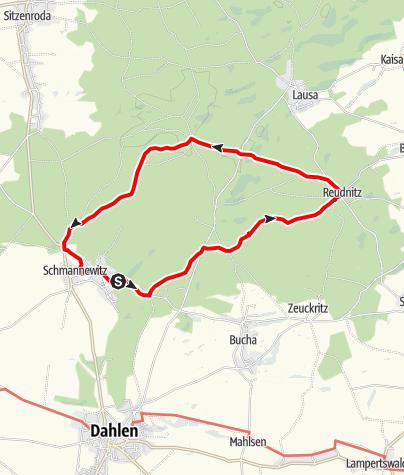 Karte / Rundwanderung in der Dahlener Heide
