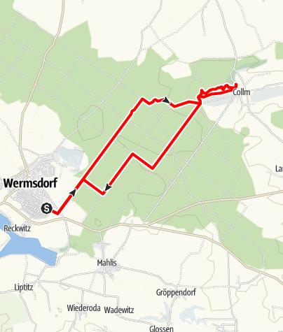 Karte / Rundwanderung von Wermsdorf zum Collm