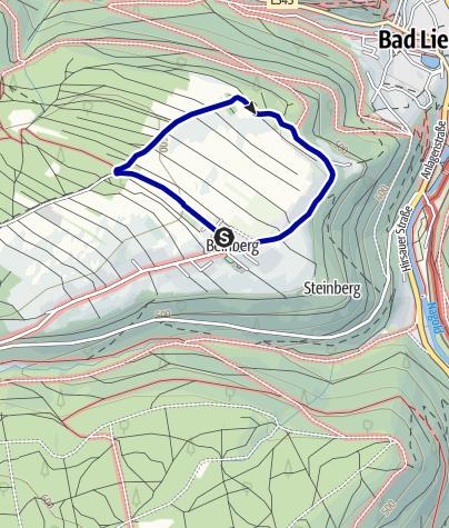 Karte / Waldhufendorf Bad Liebenzell - Beinberg