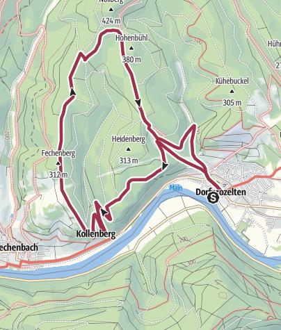 Karte / Dorfprozelten: Kollenburg-Kapellen-Weg