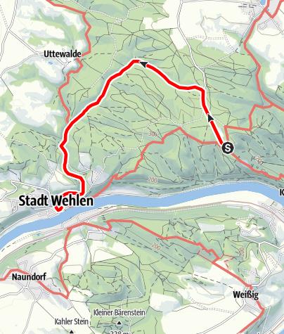 Karte / Handbike Tour: Von der Bastei nach Stadt Wehlen (Sächsische Schweiz barrierefrei)