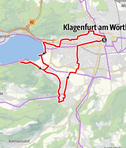 Karte / Stadt, Berg, Wörthersee - die schönsten Plätze im Südwesten Klagenfurts