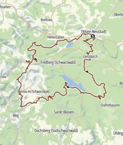 Karte / Gipfeltrail Hochschwarzwald - Ostschleife