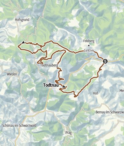 Karte / Gipfeltrail Hochschwarzwald - Westschleife