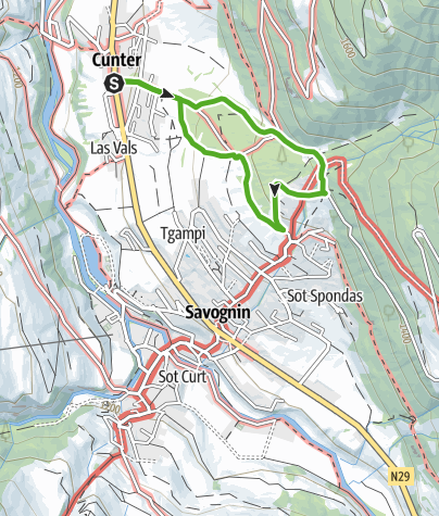 Map / Bergwald-Wundertüte, Savognin