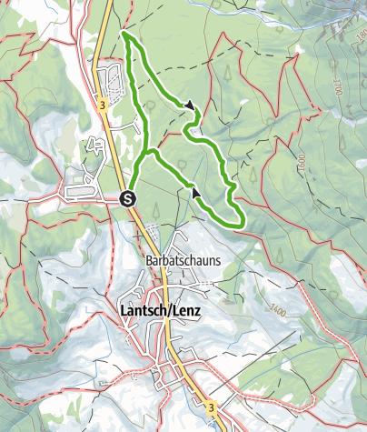 Kaart / Bergwald-Wundertüte, Lantsch