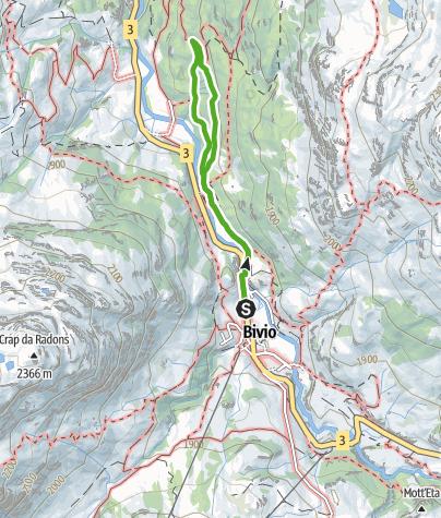 Kaart / Bergwald-Wundertüte, Bivio